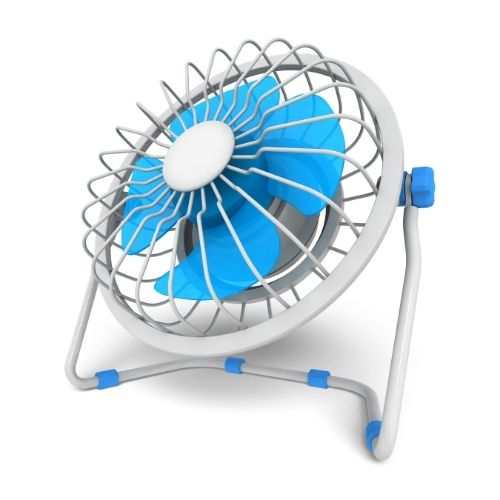 Fan for the circulating air